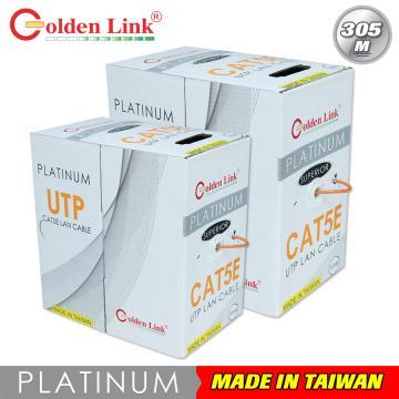 Cáp mạng Golden Link UTP Cat 5e Platinum 100M (màu cam)
