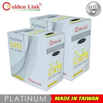Cáp mạng Golden Link UTP Cat 6 Platinum 305m (màu vàng)