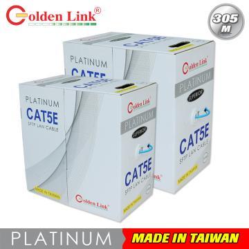 Cáp mạng Golden Link plus FTP Cat 5e Platinum  (màu xanh lơ)