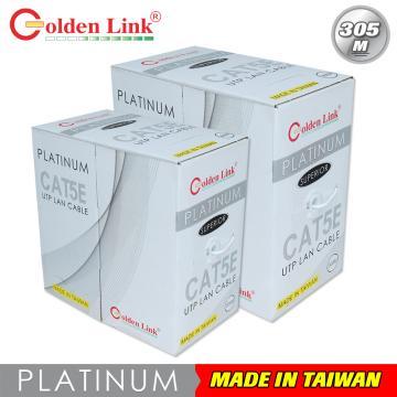 Cáp mạng Golden Link plus UTP Cat 5e Platinum  (Màu Xám)