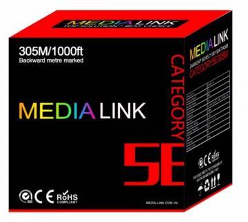 Cáp Mạng Media Link Cable UTP CAT5E Lõi 0.45mm Hợp kim đồng (IU5-1-002)