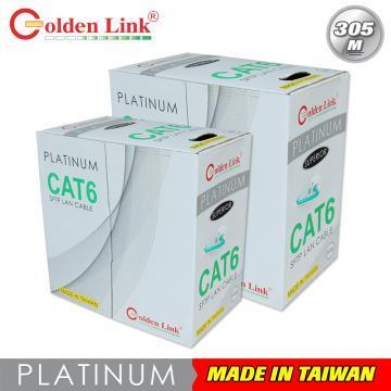 Cáp mạng Golden Link SFTP Cat6 Platinum 305m (màu xanh lá)