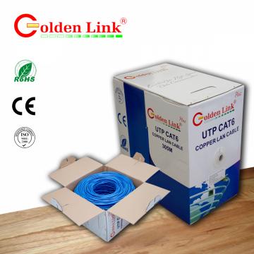 Cáp mạng Golden Link plus UTP Cat 6 Platinum  (xanh đậm)
