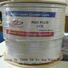 Cáp camera RG6 Plus-CCS GOLDEN JAPAN  (màu trắng)