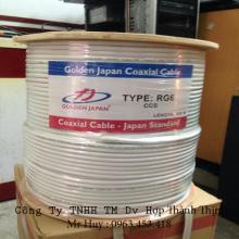 Cáp camera RG6 CCS GOLDEN JAPAN  (màu trắng)