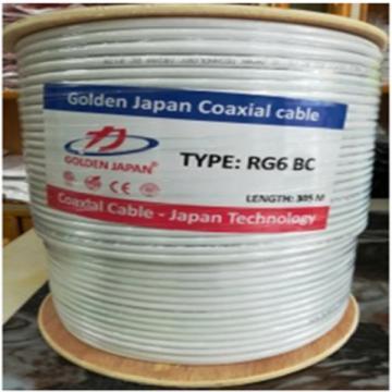 Cáp camera RG6 BC GOLDEN JAPAN ( Màu trắng)